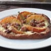 Fried Peach & Pancetta Pizza